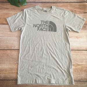 The North Face mens Slim fit Small Tee oatmeal